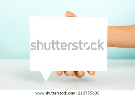 Message speech bubble concept - stock photo