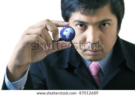 Messaging communications around the world : Data source: NASA - stock photo
