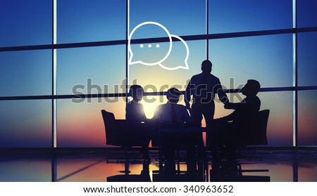 Messaging Talking Icon Communication Conversation Concept - stock photo
