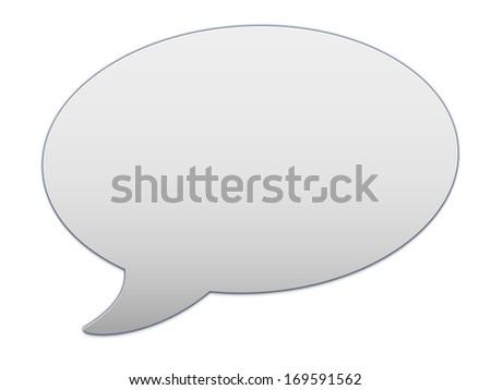 messenger window icon - stock photo