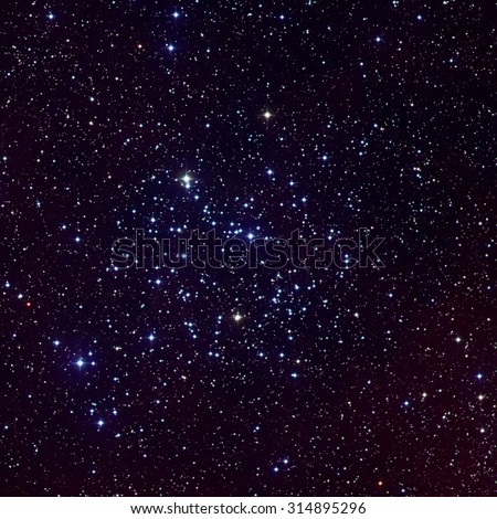 Messier 35 (also known as M35, or NGC 2168) is an open cluster in the constellation Gemini. Elements of this image furnished by NASA - stock photo