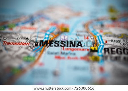 Messina Map Stock Images RoyaltyFree Images Vectors Shutterstock
