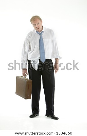 Messy business man - stock photo