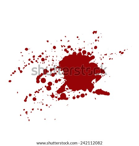 Messy red stains of blood or wine.  - stock photo