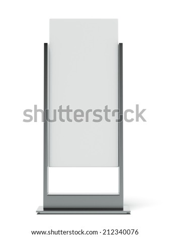 Metal Advertising Stand - stock photo