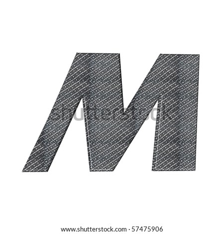metal alphabet; different metalfonts in my gallery - stock photo