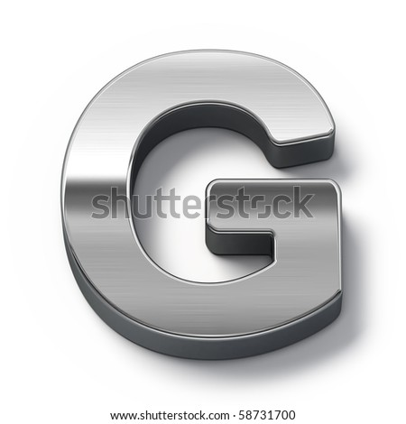 Metal alphabet symbol - g - stock photo