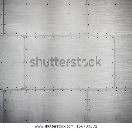metal armour background - stock photo
