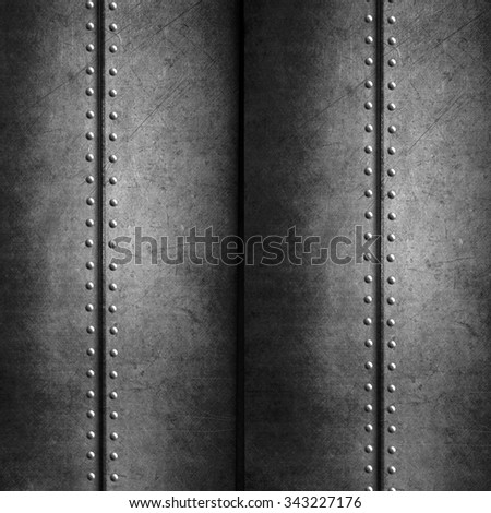 Metal background for industrial and technology design