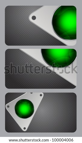 Metal background  illustration business card - stock photo