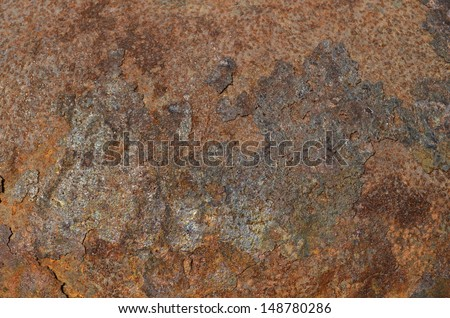 Metal Background, iron sheet, rusted pattern - stock photo