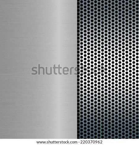 metal background on metal grill - stock photo