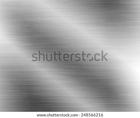 Metal background or stainless steel texture of brushed steel plate with reflections shiny - stock photo
