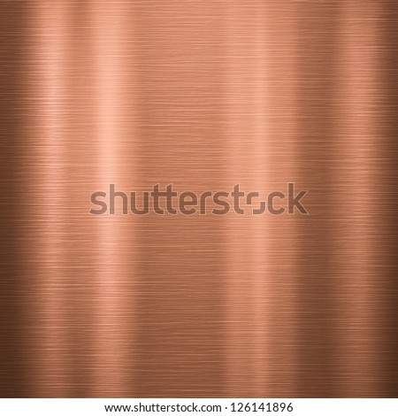 Metal background or texture of brushed copper  plate - stock photo