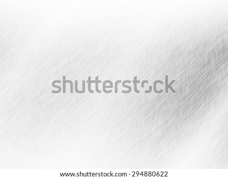Metal background or texture of brushed steel plate with reflections