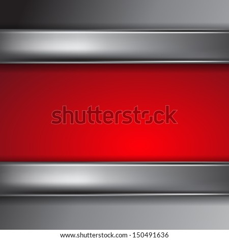 Metal background with place for text. Raster version. - stock photo