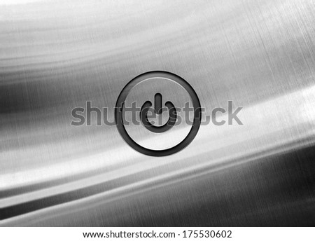 metal background with power icon