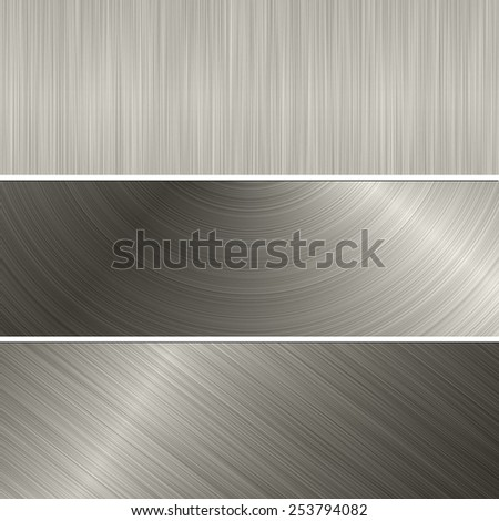 metal banner backgrounds - stock photo