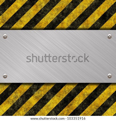 metal banner with place for text - stock photo