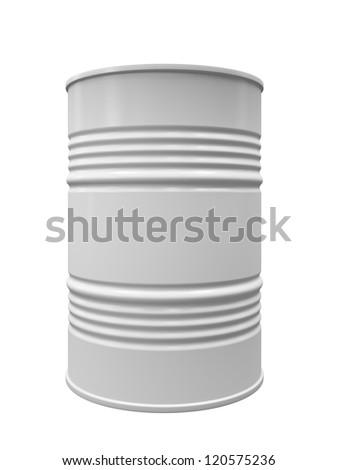 Metal barrel isolated on white background illustration - stock photo
