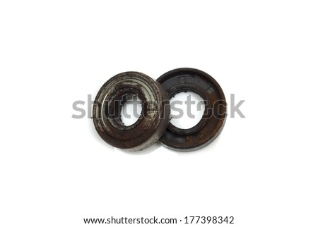 Metal bearing. Photo.