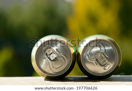 Metal beer can, unopened, alcohol and drink theme - stock photo