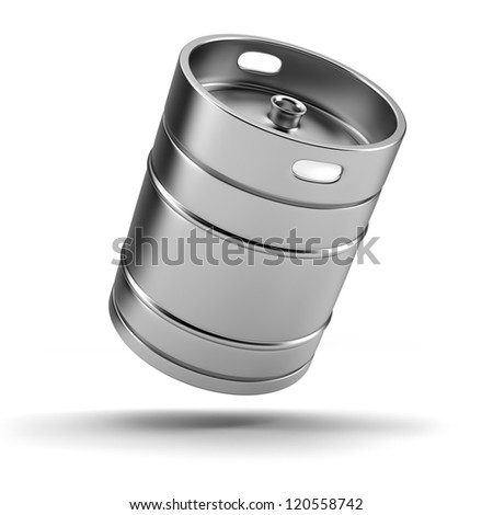 Metal beer keg - stock photo