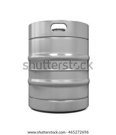 Metal Beer Keg. 3D rendering