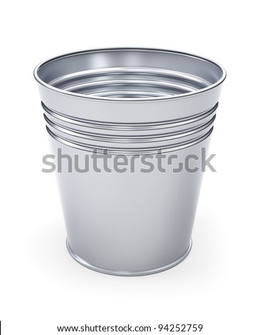 Metal bin isolated 3d model - stock photo