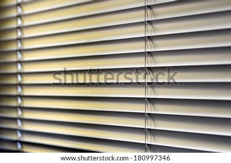 Metal Blinds with drawstring. Roller Shutter Background - stock photo