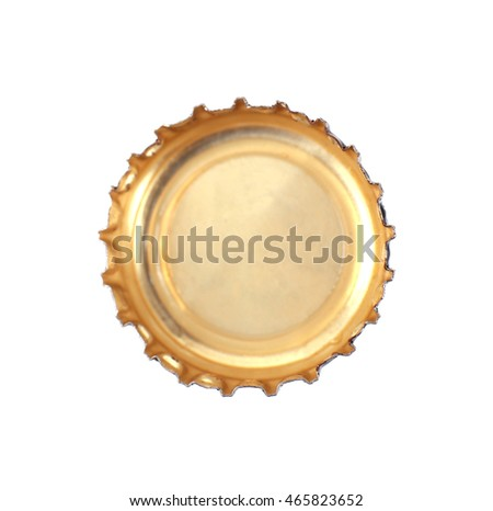 Metal bottle cap on white background