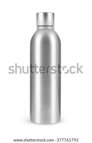 Metal bottle isolated on white background - stock photo