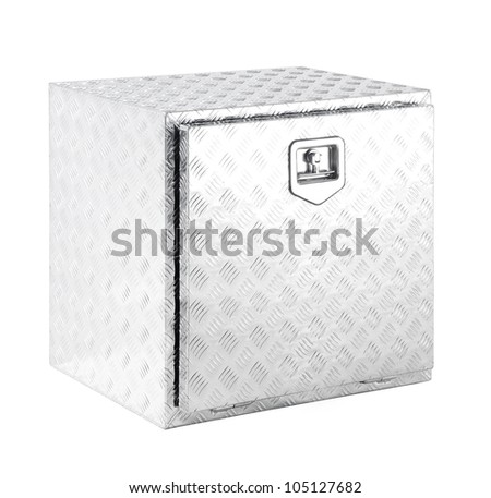 Metal box - stock photo