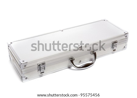metal box for tools isolated on white  background