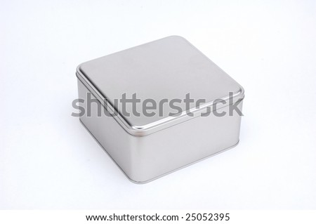metal box isolated at white background