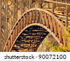 Metal bridge structure - stock photo