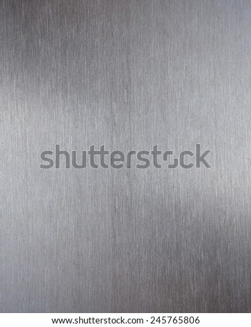 Metal brushed shiny surface for texture - stock photo