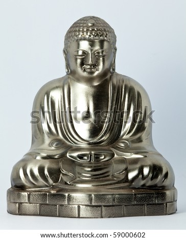metal buddha image - stock photo