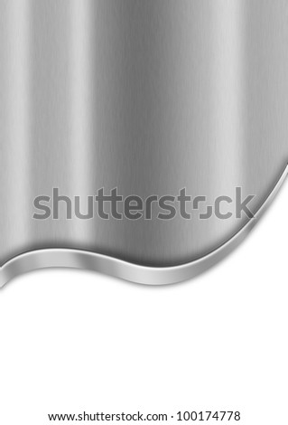 Metal Business Background / Metallic template background with wave and reflections