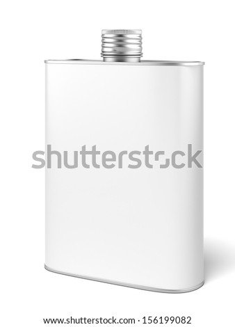 Metal can for oil - stock photo