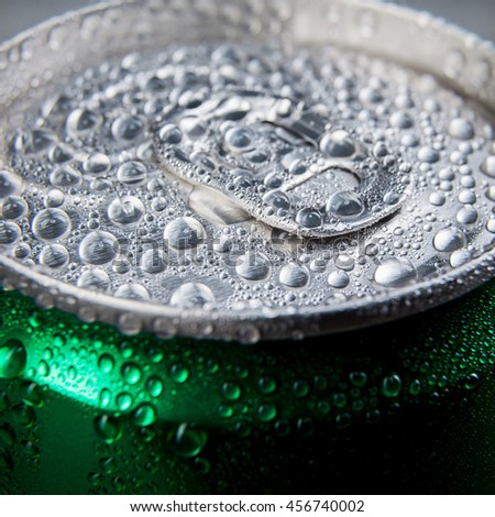 metal can of soda - stock photo