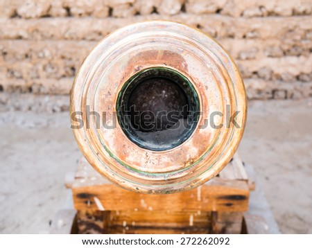 metal cannon - stock photo