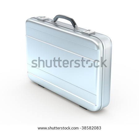 Metal case isolated on white background - 3d render