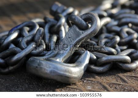 Metal Chain - stock photo