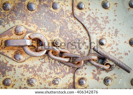 metal chain - stock photo