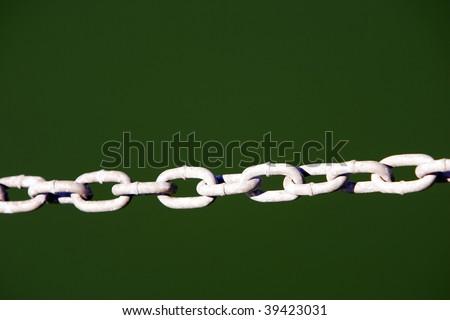 Metal chain linked - stock photo