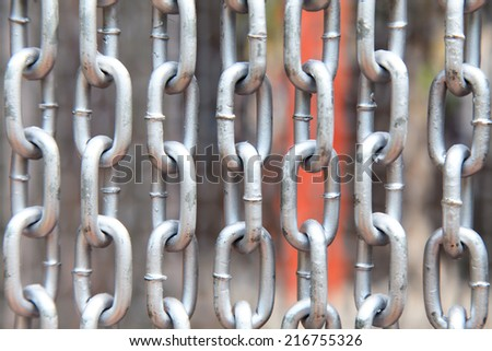 metal chains background