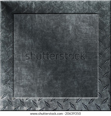 Metal Chalkboard with Copy Space