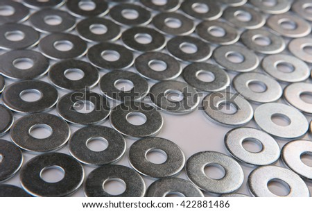 metal chromeplated shining washers background