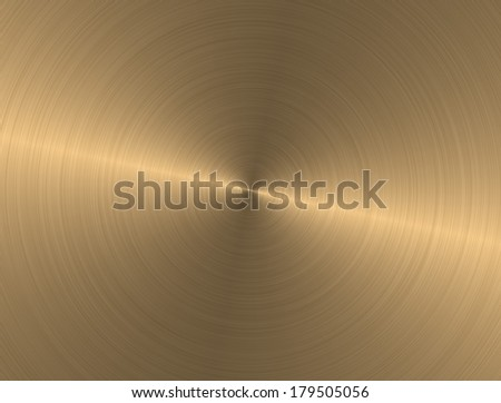 Metal circle texture light gold background - stock photo